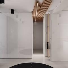 Projekt salonu z aneksem kuchennym: styl , w kategorii Korytarz, przedpokój zaprojektowany przez Archi group Adam Kuropatwa