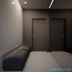 Projekt wnętrza holu wejściowego w domu w Nowym Chechle: styl , w kategorii Korytarz, przedpokój zaprojektowany przez Archi group Adam Kuropatwa