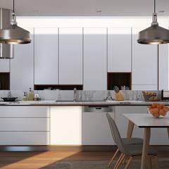 Cozinha-Projecto: Cozinhas  por EsboçoSigma, Lda