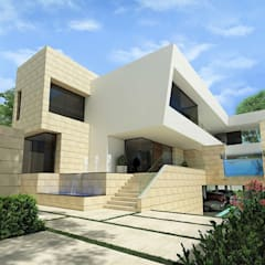 Casa KV, Ciudad de México.: Casas unifamiliares de estilo  por Víctor Díaz Arquitectos