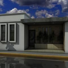 Vista de fachada: Casas unifamiliares de estilo  por MC/AP Arquitectos