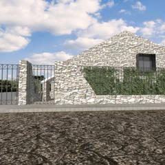 CASA DE CAMPO AD ANGULAR: Casas de campo de estilo  por CREAT ARQUITECTURA