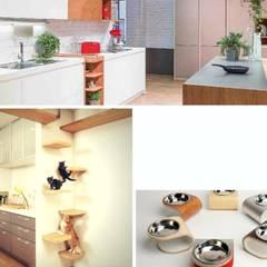 In cucina con i gatti: Cucina attrezzata in stile  di Semplicemente Insieme