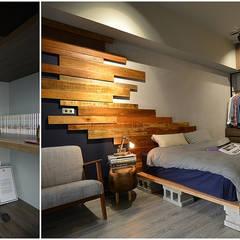 اتاق خواب توسط大觀創境空間設計事務所, صنعتی