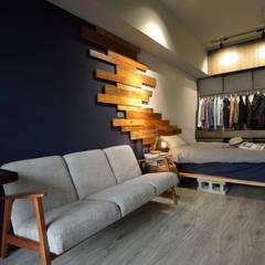 اتاق نشیمن توسط大觀創境空間設計事務所, صنعتی