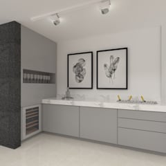 minimalistic Wine cellar by SEZIONE