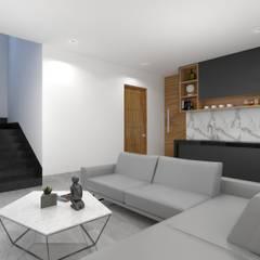 ESTANCIA: Salas multimedia de estilo minimalista por SEZIONE