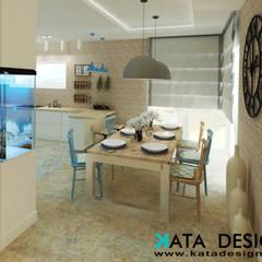 Dom pod Krakowem 140 m2: styl , w kategorii Jadalnia zaprojektowany przez Kata Design