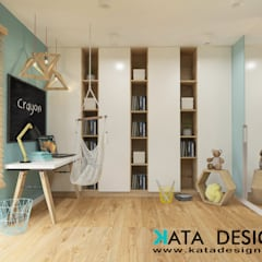 Teen bedroom by Kata Design, Modern Wood Wood effect