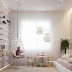 minimalistic Nursery/kid's room by Tobi Architects