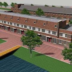 Woningbouw Singelkwartier Schuytgraaf, Arnhem:  Trap door Verheij Architecten BNA
