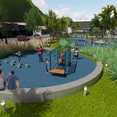 Renovação Praça Central Guaratuba: Locais de eventos  por ArqClub - Studio de Arquitetura