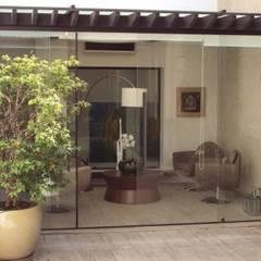 Área de Descanso e Contemplação: Terraços  por Amaria Gonçalves - Design Paisagismo