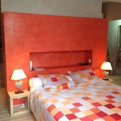 Enduit à la chaux: Murs de style  par Florence Lavigne - Peintures et Enduits naturels