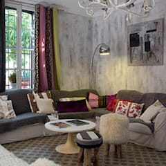 Badigeon de chaux - Patine: Murs de style  par Florence Lavigne - Peintures et Enduits naturels