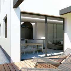 PROYECTO TRANSFORMACIÓN TALLER A VIVIENDA: Terrazas de estilo  de inzinkdesign