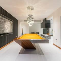 Casa T : Salas de entretenimiento de estilo moderno por Gracia Nano Studio