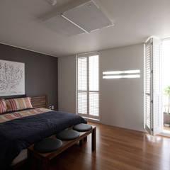 전주인테리어 서신동 대림 이편한세상 아파트 인테리어: 디자인투플라이의  침실