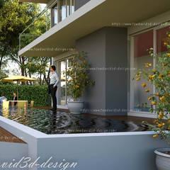 บ้านพักอาศัย 2ชั้น อ.หัวหิน จ.ประจวบคีรีขันธ์:  สระว่ายน้ำ โดย fewdavid3d-design,