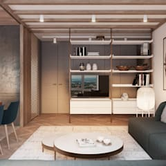 : minimalistische Wohnzimmer von Tobi Architects
