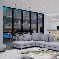 Algonquin:  Living room by Design Studio AiD