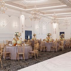 Royal Venetian Banquet Hall:  Dining room by Design Studio AiD