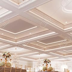 Royal Venetian Banquet Hall:  Living room by Design Studio AiD
