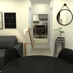 Apartamento Assis Brasil Corredores, halls e escadas industriais por COB Arquitetura e Design Industrial