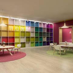 Segundo puesto concurso privado | Inmobiliaria Edifica : Salones de eventos de estilo  por Gracia Nano Studio