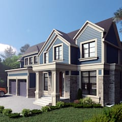 Architectural Design and Visualization: classic Houses by Design Studio AiD