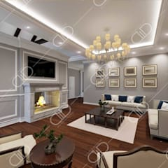 Traditional interior:  Living room by Design Studio AiD