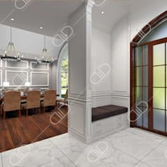 Traditional interior:  Dining room by Design Studio AiD,