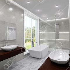 Traditional interior:  Bathroom by Design Studio AiD,