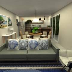 Casa São Francisco: Salas de jantar tropicais por COB Arquitetura e Design