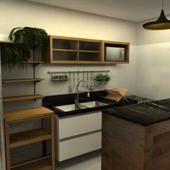 Cocinas de estilo  por COB Arquitetura e Design,