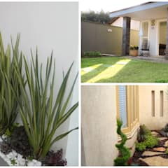 Jardines en la fachada de estilo  por homify
