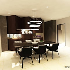 Sea Horizon Condo:  Dining room by AgcDesign,Modern