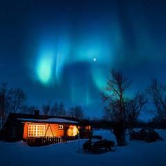 Nachtlichter:  Einfamilienhaus von Tanja Mason Fotografie