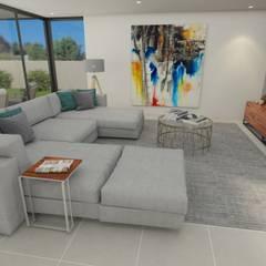 Interior Design in a Maia villa: Salas de estar  por No Place Like Home ®,Moderno