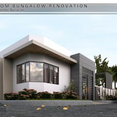 3-Bedroom Bungalow Renovation:  Bungalows by Garra + Punzal Architects