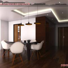 3-Bedroom Interior Design Modern dining room by Garra + Punzal Architects Modern