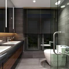 Cải tạo căn hộ Duplex -Lam Sơn - Tân Bình:  Phòng tắm by Công Ty TNHH Archifix Design