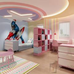 Cải tạo căn hộ Duplex -Lam Sơn - Tân Bình:  Phòng ngủ của trẻ em by Công Ty TNHH Archifix Design,