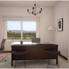 CASA PM | ESCRITORIO: Estudios y oficinas de estilo clásico por áwaras arquitectos