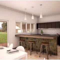 CASA PM | COCINA COMEDOR DIARIO: Cocinas de estilo  por áwaras arquitectos