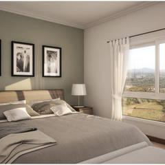 CASA PM | DORMITORIO PRINCIPAL : Dormitorios de estilo clásico por áwaras arquitectos
