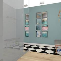 Mieszkanie na Wyżynach w Bydgoszczy: styl , w kategorii Korytarz, przedpokój zaprojektowany przez MJ-Atelier