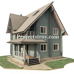 Проектирование дома из бревна: Деревянные дома в . Автор – Projectstroy