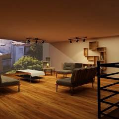 Estancia: Salas de estilo industrial por MC Interior