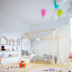 casa vega: Habitaciones infantiles de estilo  por Adrede Diseño